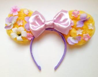 Rapunzel/Tangled Braid Mickey Ears | Ears | Mouse Ears | Minnie Ears