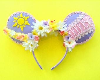Handmade Tangled/Rapunzel Mouse Ears | Ears | Minnie Ears | Tangled | Rapunzel