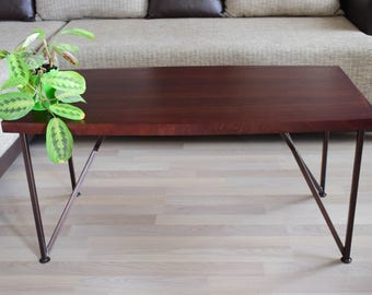 IN STOCK! Coffee table, Wooden coffee table, Modern coffee table,  Chestnut coffee table, Reclaimed Wood Coffee Table