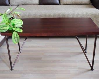 Coffee table, Wooden coffee table, Modern coffee table, Walnut veneer coffee table, Chestnut coffee table, Reclaimed Wood Coffee Table