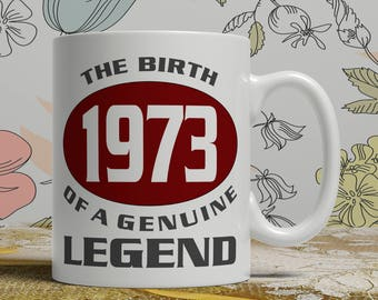 Legend 45th Birthday mug, 45th birthday idea, born 1973 birthday, 45th birthday gift, 45 years old, Happy Birthday, EB 1973 Legend