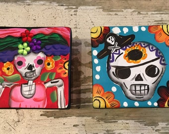 Day of the Dead / Dia de los Muertos / Catrina / Catrina Boxes / Clay Boxes / Mexican Catrina
