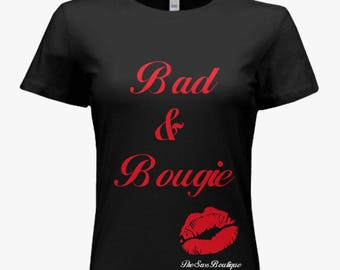 Bad and Bougie Shirt Black and Red