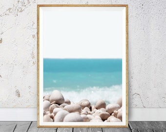 Coastal Style, Instant Digital, Turquoise Art Print, Beach Art Print, Coastal Art Print, Water and Waves, Ocean Print, Sea Print, 113v