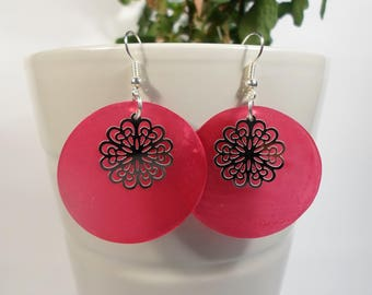 Gift idea for woman, rose earrings, small flower prints
