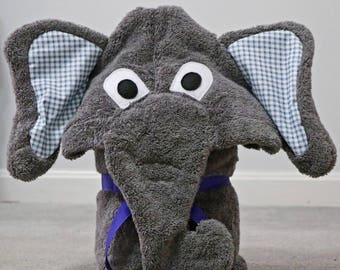 Elephant Hooded Towel - Adult sized
