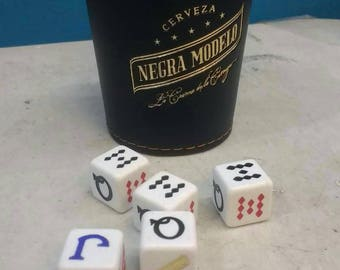 Cerveza Negra Modelo Beer Poker Dice Shaker Cup Game Cubilete Party Gift Man Cave Father Dad Husband Man Men Birthday Gift Craftbeer Casino
