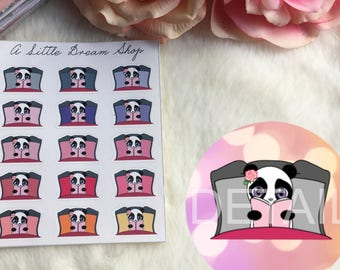 Iris-Panda Stickers Reading