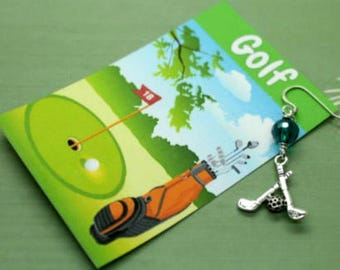 Golf Charm Earrings