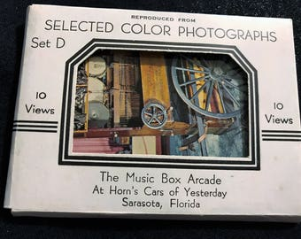 Souvenir Postcards Photographs from The Music Box Arcade Sarasota Florida Vintage 1960s