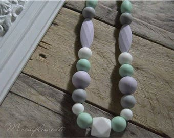 Teething necklace. [Sweet softness].