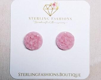 Medium - Mauve Pink Druzy