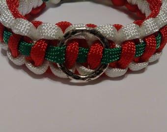 Paracord bracelet, Christmas bracelet, bracelet