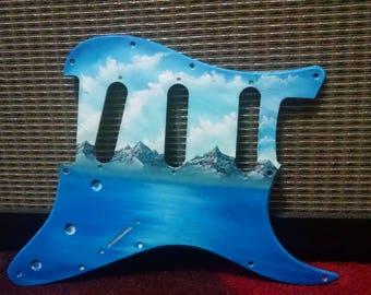 Handpainted Guitar Pickguard (Fender/Squier)