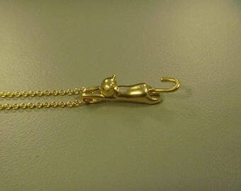 Necklace cat 16 k Gold Plated
