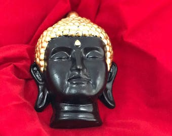 Buddha-made concrete, with whipped metal gold-plated, gift, spirituality, meditation, gifts, handmade, yoga art