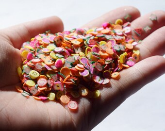 1000 pieces of fruit fimo slices, fimo for slime, slime, nail art