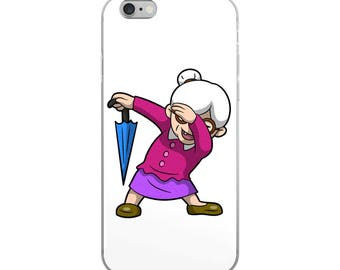 Dabbing Grandmother Funny iPhone Case - Iphone 7 case - Iphone 8 case - Iphone 7 plus case - Iphone 6 case - Iphone X case