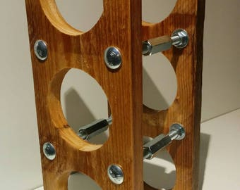 Reclaimed Wood Wine Rack - 3 Bottle