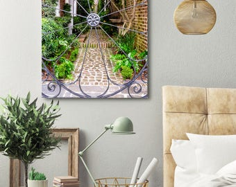 Metal Garden Gate Art - Charleston Iron Gate Photo - Charleston South Carolina Photography - Wrought Iron Gate Photograph - Garden Artwork