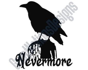 Raven SVG - HTV - Vinyl Cutting Graphic Art