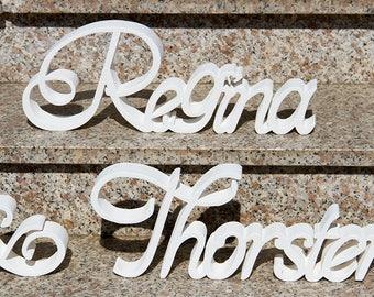 Wooden Letter Names