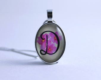 Calligraphy necklace - Initial necklace - Illustrated Personalised necklace - Illustrated pendant - Personalised pendant - Gift for her