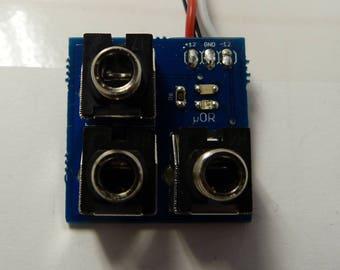 μOR - Transistor OR gate for Eurorack tile systems (Assembled or PCB)