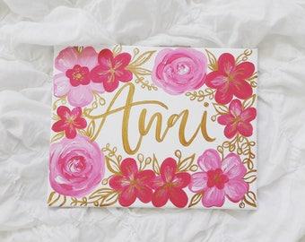 Name sign, baby name sign, baby shower gift, nursery decor, nursery wall art