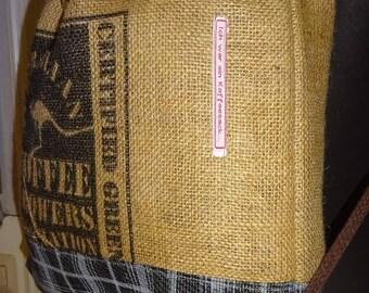 """Coffee bag backpack """"Australia II"""", ca. 40 x 45 cm"""
