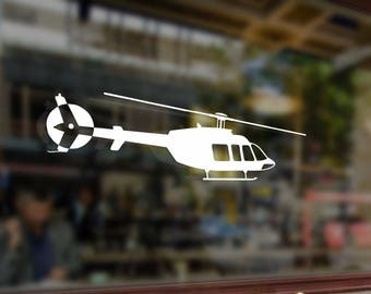 Helicopter Bell 407 Vinyl Stickers Funny Decals Bumper Car Auto Computer Laptop Wall Window Glass Skateboard Snowboard Helmet