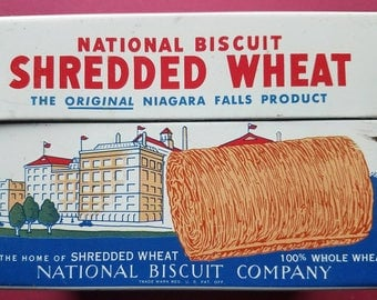 Vintage 1974 Shredded Wheat Recipe Box