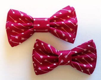 Bow Tie, Mens Bow Tie, Dad and Son Bow Ties, Red Bow Tie, Father Son Bow Ties, Groomsmen Bow Tie, Arrows Bow Tie, Bowtie,Boys Bow Tie  DS741