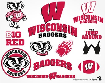 Wisconsin Badgers svg, Wisconsin svg, Badgers clipart, B1G digital files – svg, eps, png, dxf, pdf. Decor Stencil Cut Print Mug Shirt Decal