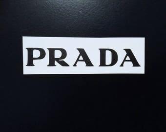 10 PRADA Stickers PRADA Decal PRADA Party Stickers Envelope seals Fashion Party Decor