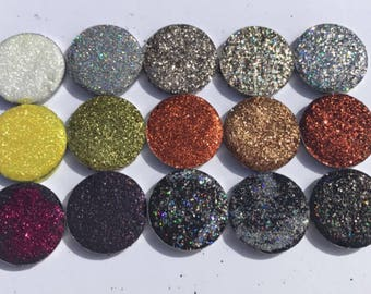 Neutral Pressed Glitter Eyeshadow Palette 15 Piece  Cruelty Free (SWEET TEA PALETTE)