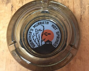 Vintage Ashtray: Guenther's Murrieta Hot Springs , CA