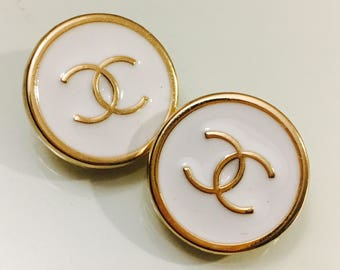 Chanel Buttons White