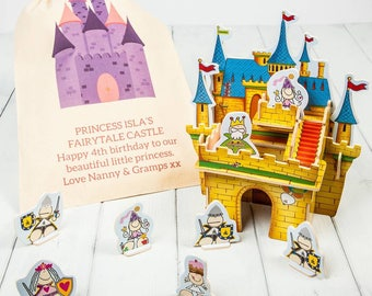 3D Wooden Castle Playset Kit And Personalised Gift Bag