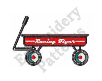 Radio Flyer Wagon - Machine Embroidery Design
