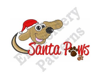 Santa Paws - Machine Embroidery Design
