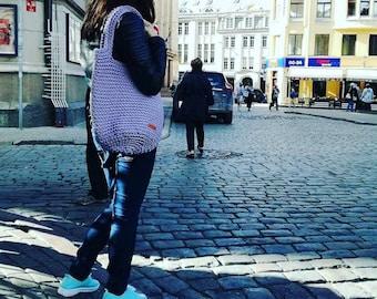 Crochet bag, Large bag, Knit handbag, Shoulder bag, crochet tote bag, Shopper bag, Casual handmade, rope bag, Woven bag, Crochet purse,