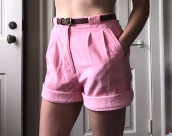 Vintage Pink Corduroy Golf Shorts