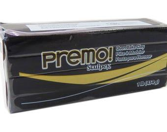 Premo Sculpey Modeling Clay 1 lb Bar - Black