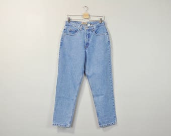 90s Mom Jeans, High Waisted Jeans, Medium Wash Jeans, Relaxed Fit Tapered Leg Jeans, Vintage 90s Jeans, Women's Jeans Size 12 Petite