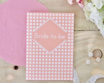 Bride to be Card / Engagement cards / Wedding card / Bridal shower card / Hen party card / Bride card / Card for Bride to be / Wedding bride