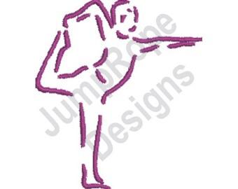 Yoga Man - Machine Embroidery Design