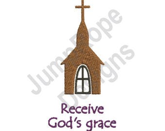Receive Gods Grace - Machine Embroidery Design