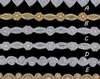 1Yard 3.3CM Fashion Bridal Costume Beaded Dress Trimming Decoration Bling Sew On Base Crystal Rhinestone Applique Trim Accessories