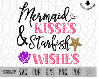 Mermaid SVG, Starfish svg, Ariel svg, new baby svg, baby svg, summer svg, little mermaid svg, svg files for cricut